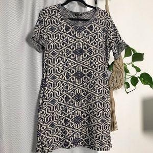 Patterned sweater dress